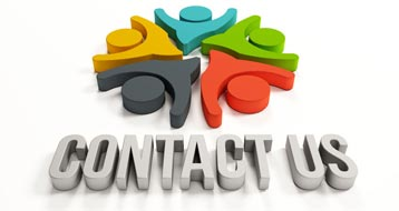contact us with animated people