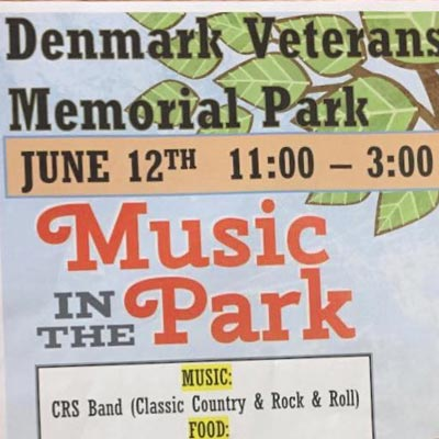 music in the park veterans park june 12th from 11am-3pm