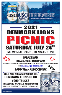 picnic in the park on Saturday, July 24th at Denmark Memorial Park